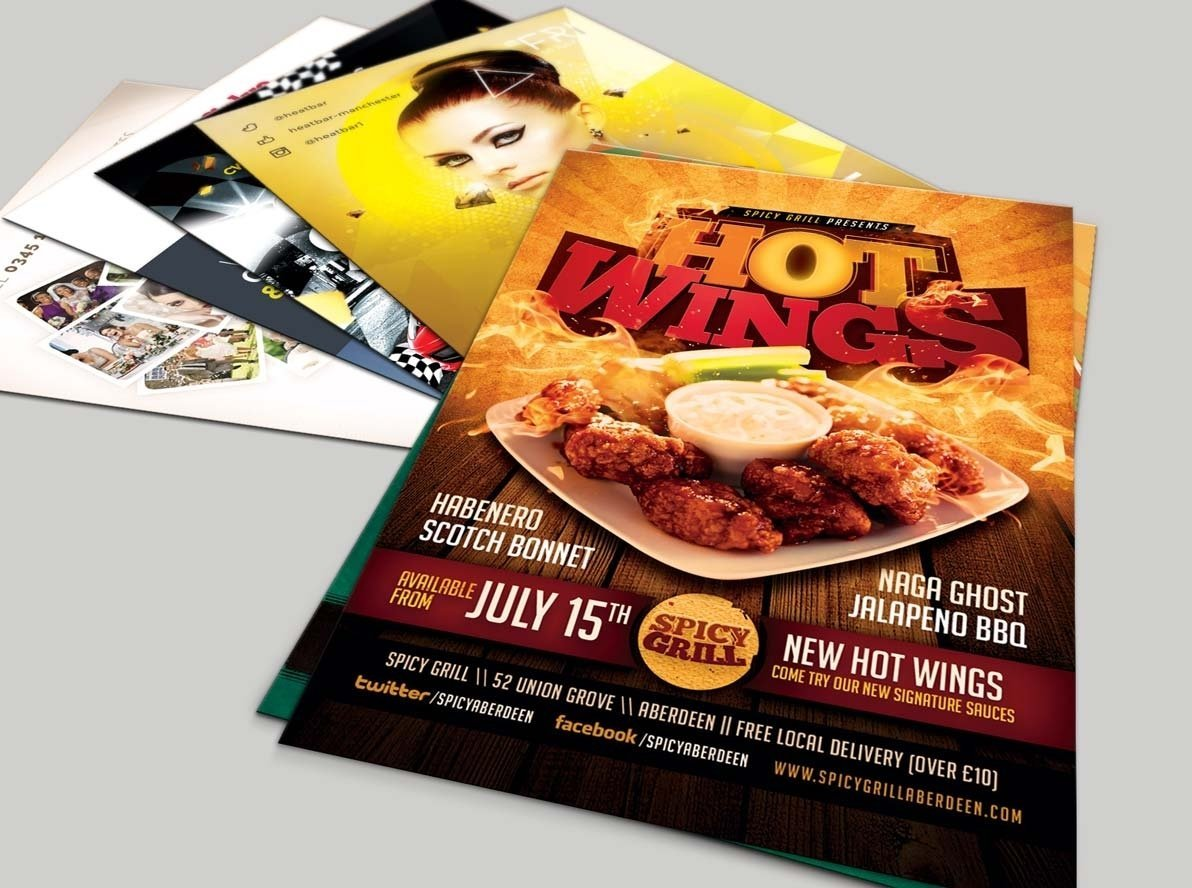 Budget Restaurant Leaflets and Flyers