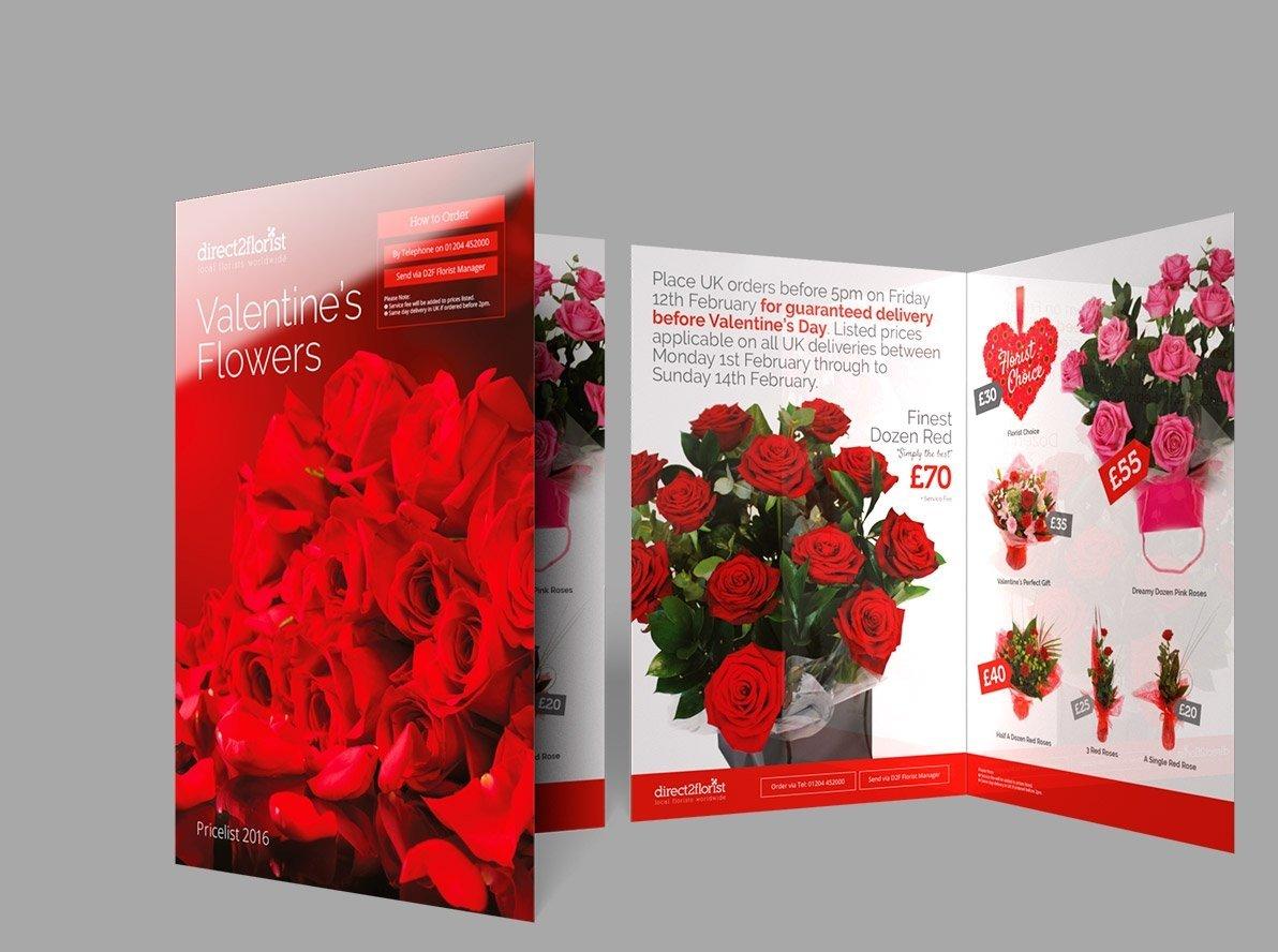 Folded Laminated Promotional Leaflets and Flyers