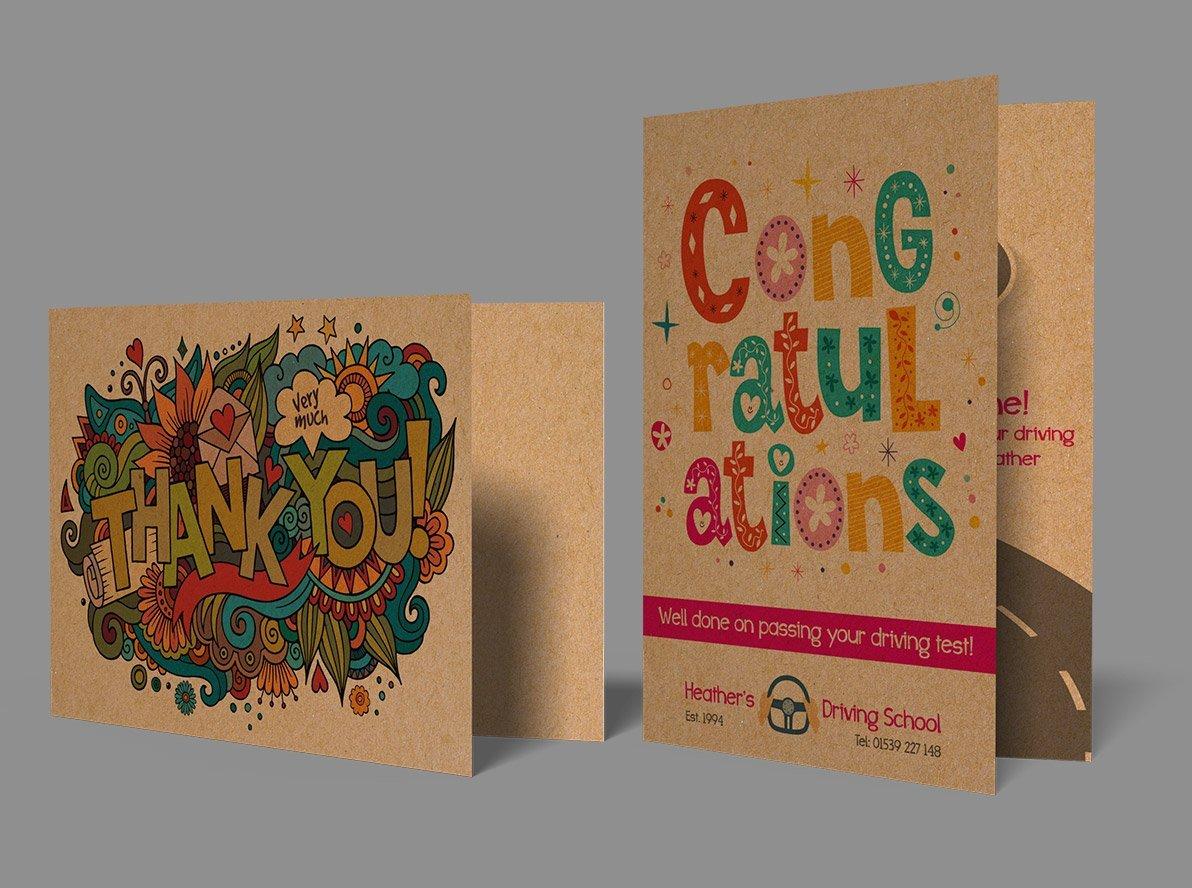Brown Kraft Greetings Cards