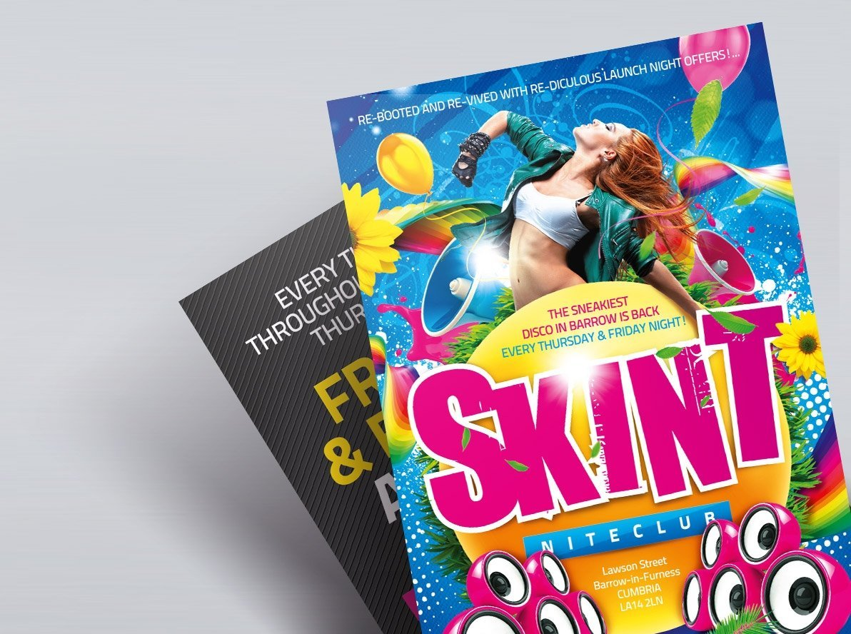 Flat Colour Leaflets and Flyers