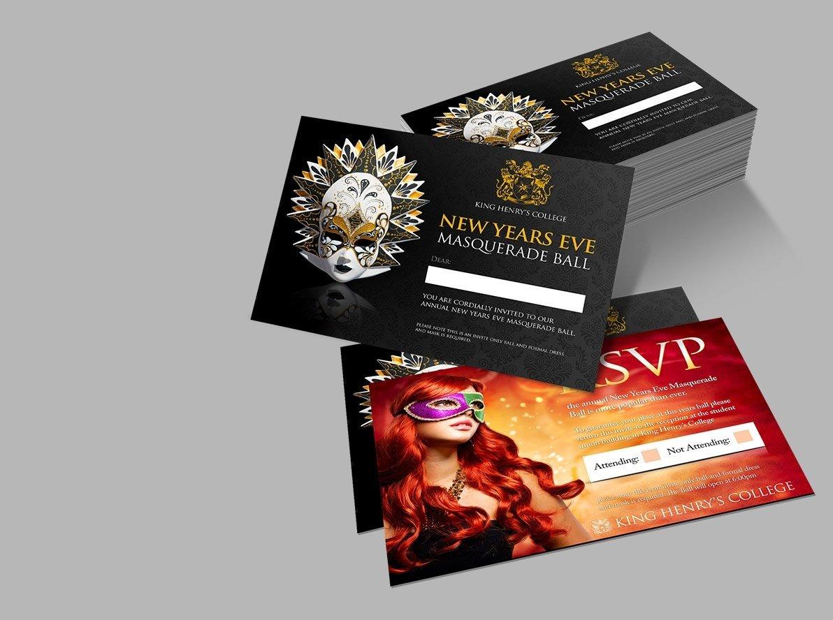 Flat New Year's Eve Invitations