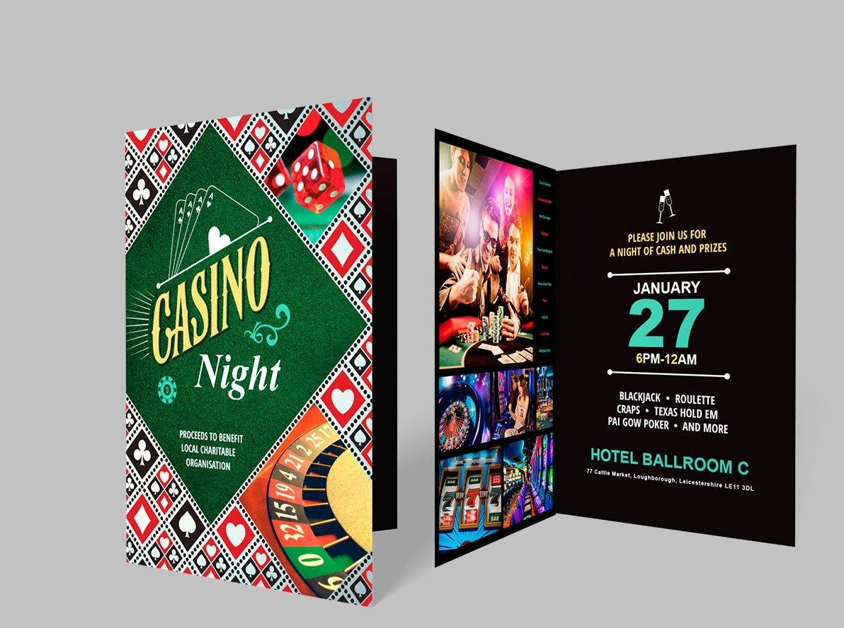 Folded New Year's Eve Invitations