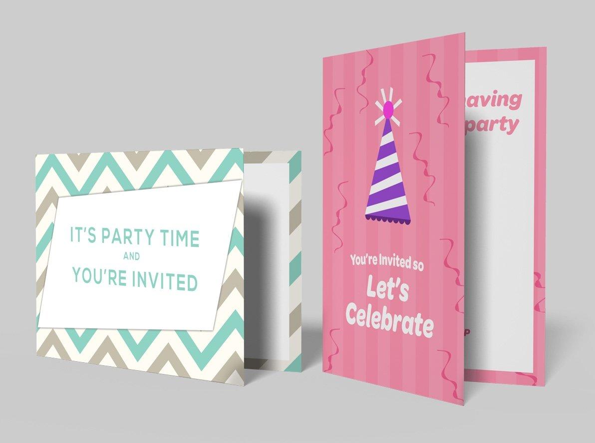 Folded Birthday Party Invitations