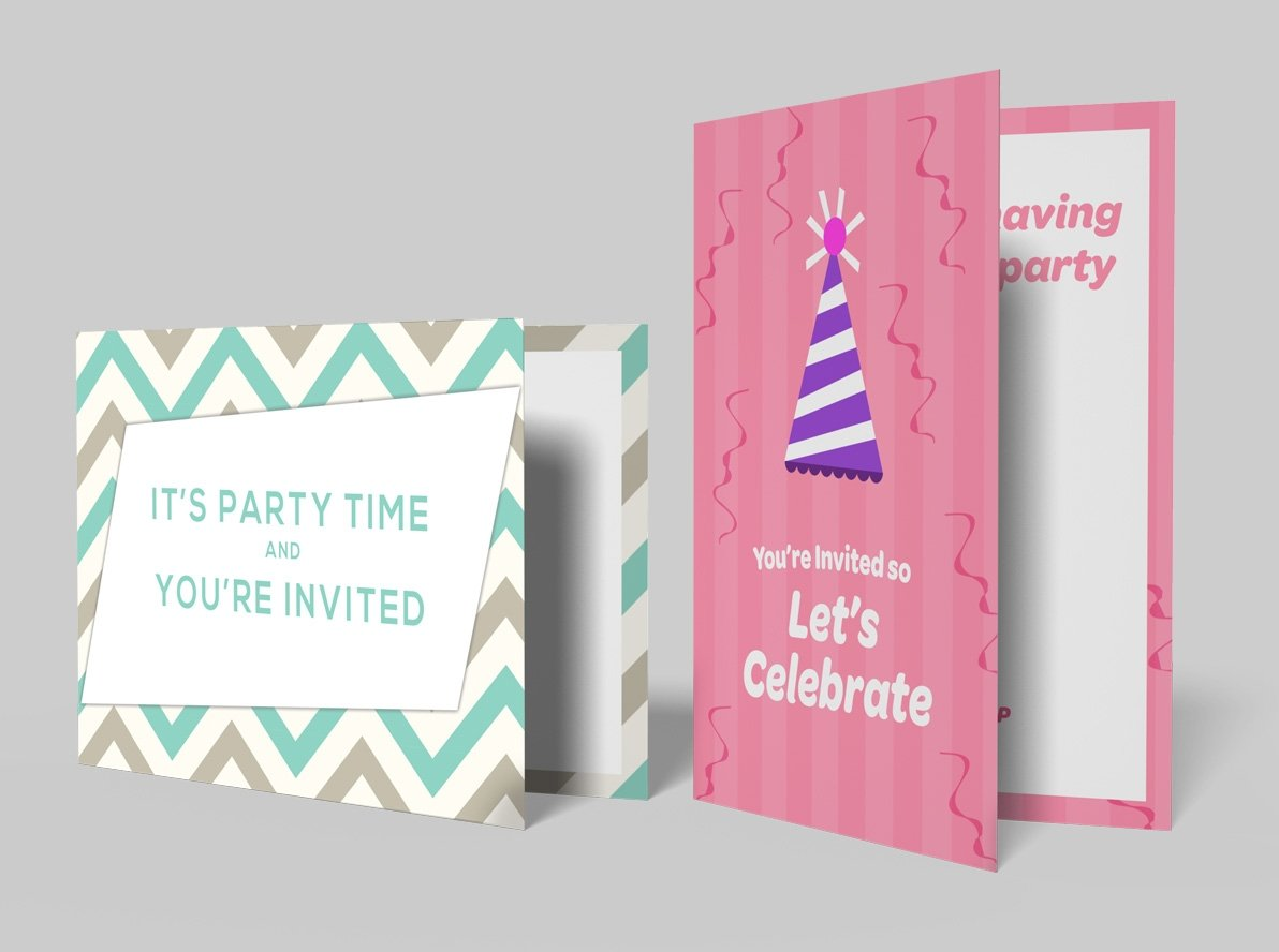 Folded Summer Party Invitations