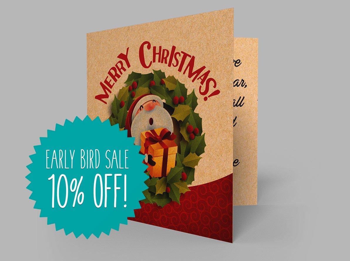 Brown Kraft Christmas Cards