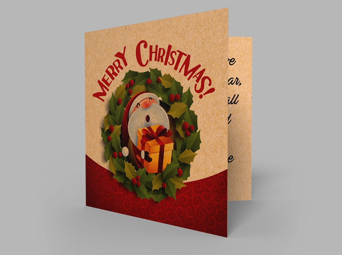 Brown Kraft Christmas Cards
