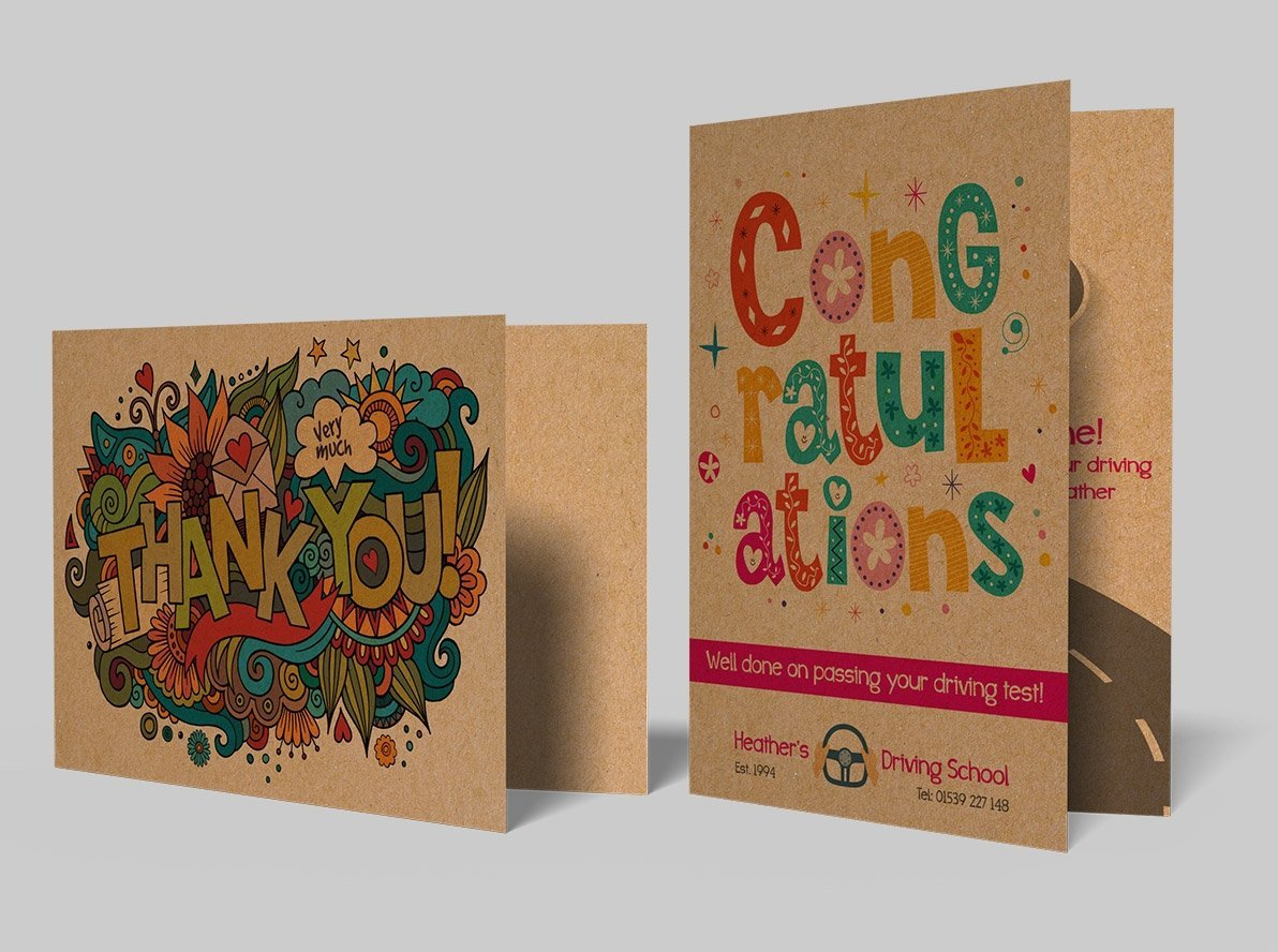 Brown Kraft Greetings Cards