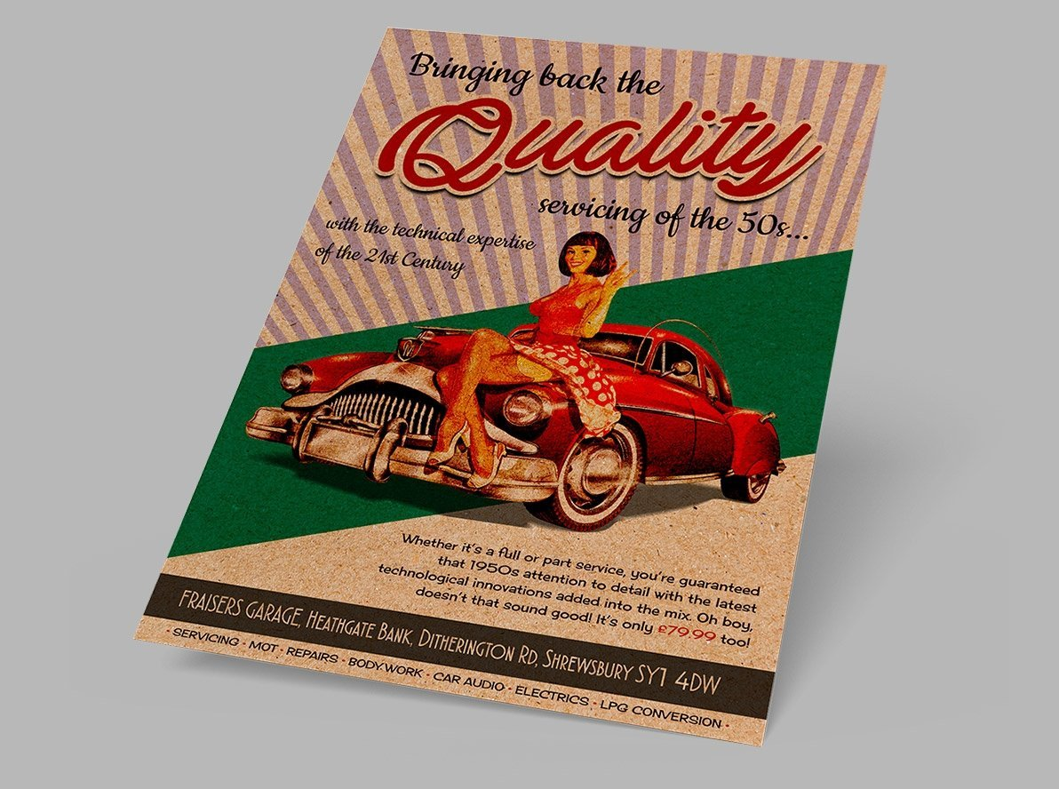 Flat Brown Kraft Business Leaflets and Flyers