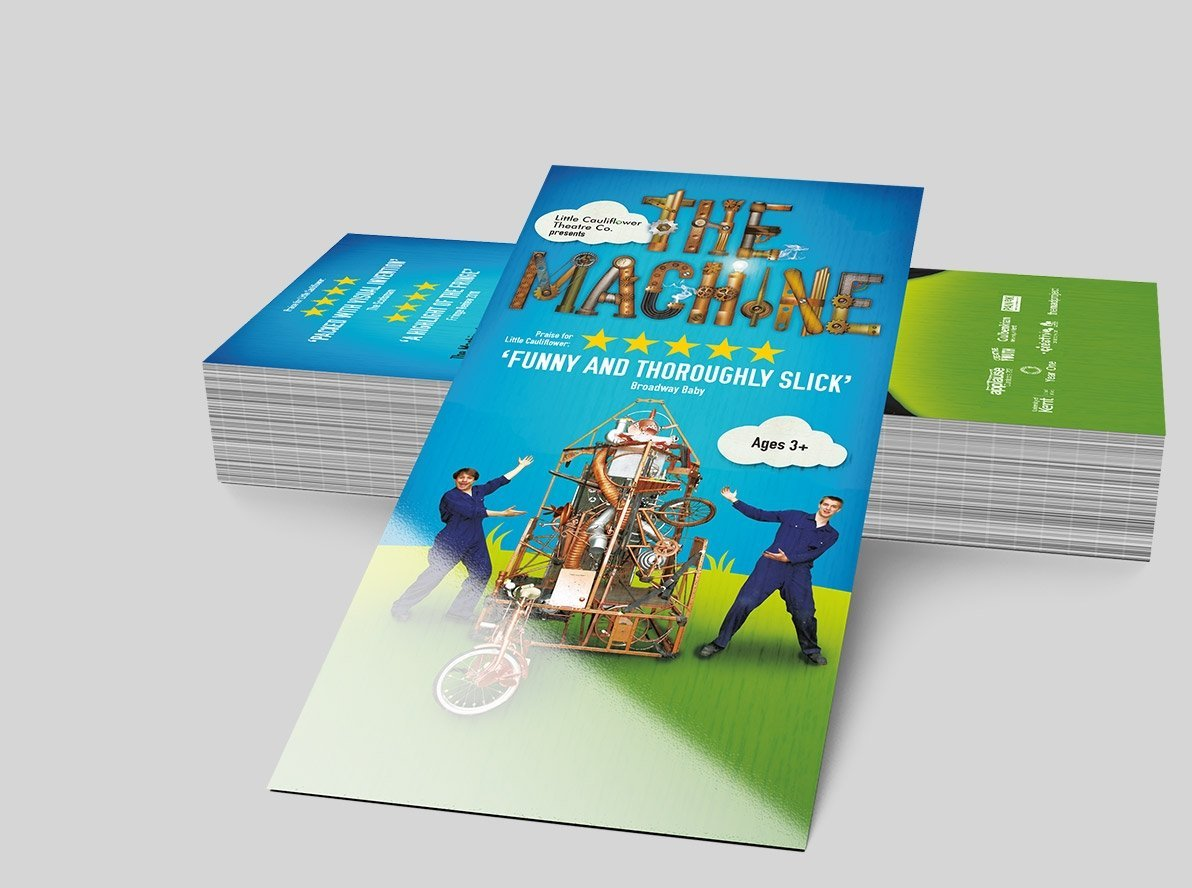 Flat Laminated Restaurant Leaflets and Flyers