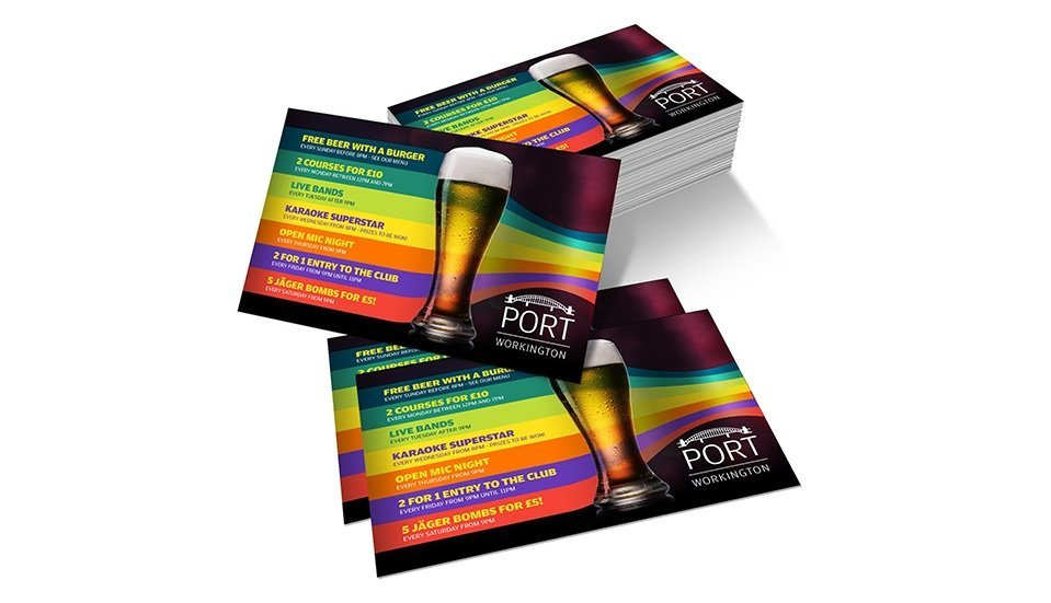 bar and nightclub flyer printing