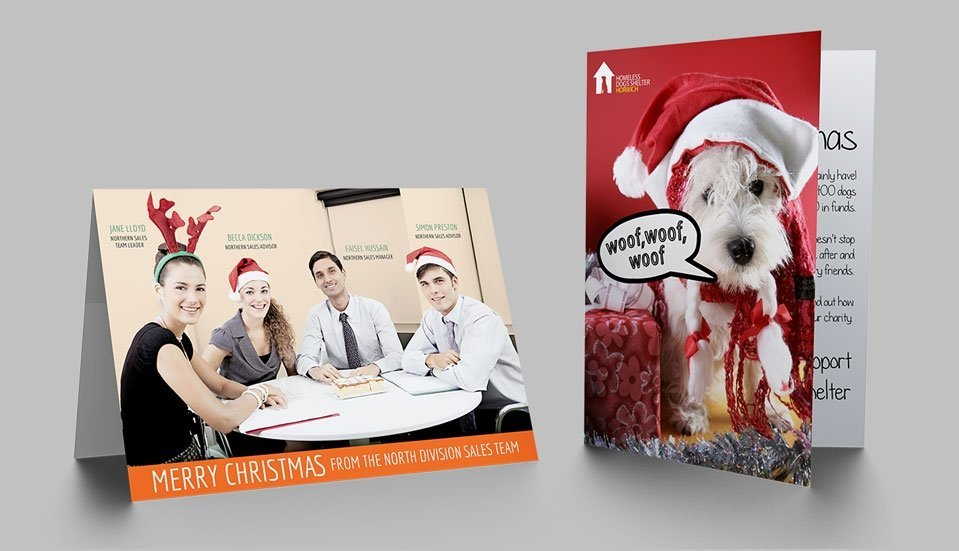 Business christmas cards stressfreeprint business christmas cards reheart Images