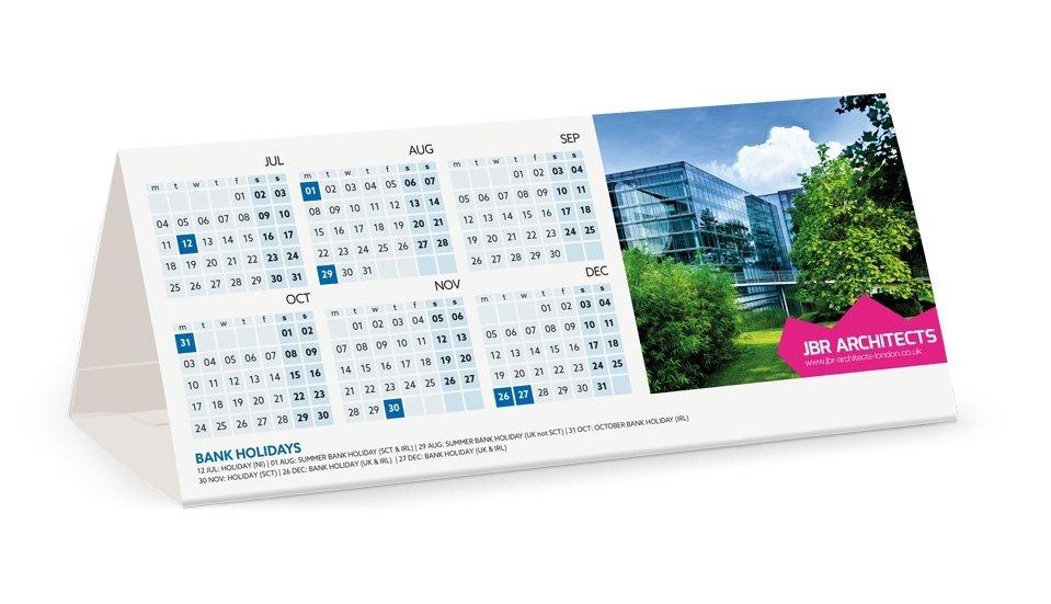 printed tent calendars