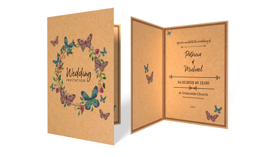 printed wedding reception invitations