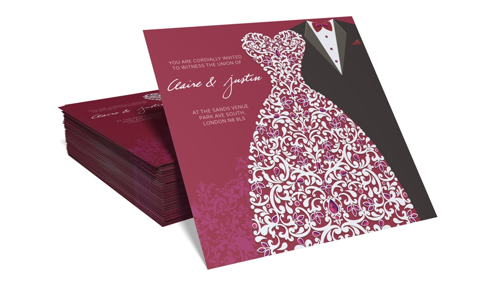wedding reception invitation printing