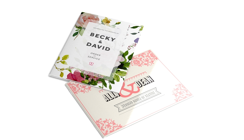 Wedding Order of Service Booklets